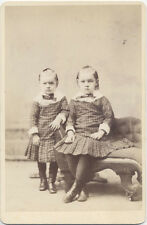 CABINET CARD, TWO ANGRY YOUNG GIRLS IN MATCHING DRESSES, SAN FRANCISCO, CA.