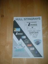 2006/7 CASCO RAYAS V Cardiff Devils hockey sobre hielo