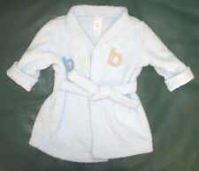 0-9 month boys blue Carter's robe for after bath or after swim