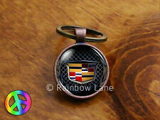 Handmade Cadillac Car Keychain Key Chain Case Key Ring Accessories Gift