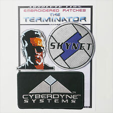 TERMINATOR / SKYNET / CYBERDYNE PATCHES Iron-On Patch Super Set #133 - FREE POST