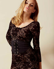 AGENT PROVOCATEUR BLACK AUDREY WASPIE DRESS SIZE MEDIUM 10 RRP £495