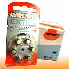 60 Original RAYOVAC Extra Advanced HG0% Hörgeräte-Batterie 13 PR48 ZL2 ORANGE