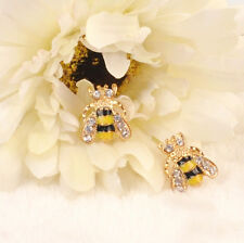 Elegant Jewelry Enamel Rhinestone Hot Bumble Bee Crystal Earrings Animal EarStud