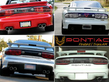 BLACK PONTIAC TRANS AM 1993 94 95 96 97 98 - 2002 REAR BUMPER LETTERS NOT DECALS