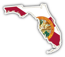Florida USA State Map Flag Car Bumper Sticker Decal 5'' x 4''