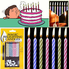 10pcs Cake Mate Magic Trick Relighting Candle Birthday Cake Party Prank Gag Joke