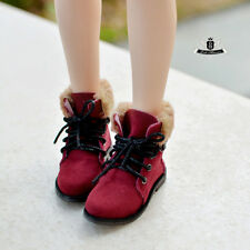 MSD 1/4 BJD Shoes Supper Dollfie DOD Red Nubuck leather Boots MID SOOM AOD DREAM