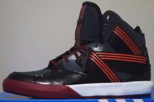 ADIDAS C-10 Mens Size 12 RED / BLACK / WHITE / BURGANDY Basketball Shoes
