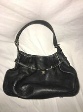 TOD'S Black PEBBLED LEATHER HOBO Hand BAG PURSE SATCHEL