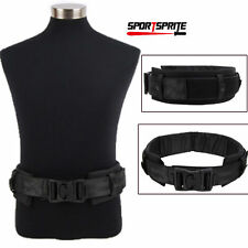 Tactical Hunting 1000D Molle Nylon Waist Duty Belt W/ Waist Protection Pad Black