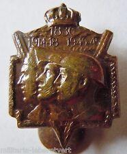 Insigne Boutonnière WWI WWII 1914 1939 ANCIENS COMBATTANTS BELGIQUE  casque