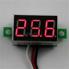 Mini DC 0.1-30V Red LED 3-Digital Display Voltage Voltmeter Panel for Motorcycle