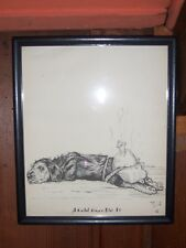 """Dog print by Zito  """"A Cold Nose Did It""""  circa 1930s-40s"""