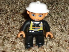 Lego Duplo Mini Figure Fireman Fire Man White Helmet