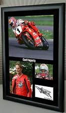 "Carl Fogarty Motor Cycle Framed Canvas Print Signed Tribute ""Great Gift"""