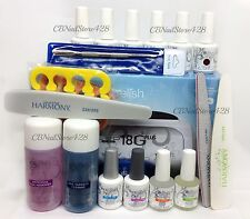Harmony Gelish Kit C - 18G PLUS Lamp, Base Top Bond Oil, 6 Colors & FREE Gifts