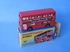 Matchbox SF-17 Londoner Bus Berger Paints Unpainted Base RARE Boxed