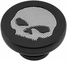 Bikers Choice Gas Cap with Skull Screen, Vented - Black 77200B2 66-6711
