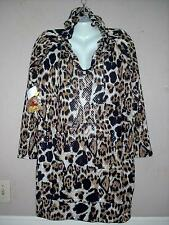 APPLE BOTTOMS WOMEN'S PLUS SIZE ANIMAL PRINT LONG SLEEVE HOODIE DRESS Sz 1X NWT