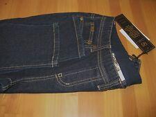 Diane Gilman Ramie Blend 5 Pocket Pull On Skinny Jean Indigo Size XS BNWT