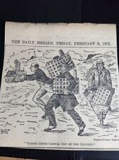 M1-6 ephemera 1911 Cartoon Taking Their Capital Out Pro Trade Union Original Uk