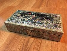 Najeon Lacquer Inlaid Mother of Pearl Jewelry Box - CIA Korean Intelligence NIS