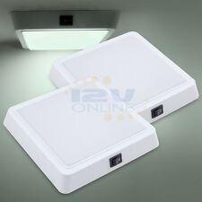 "2*LED 12V 7.2"" Square Panel Light RV Caravan Trailer Boat Cabin Downlight 700LM"