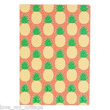 Sass & Belle PINEAPPLE A5 Notebook Blank Notepad Ideas Sketch Scrap Book Journal