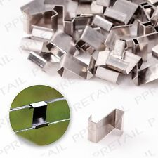 50 PACK GREENHOUSE GLAZING CLIPS Strong Panel Fixing Z Type Stainless Steel Set