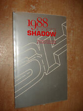 1988 DODGE SHADOW OWNERS MANUAL GLOVE BOX BOOK ORIGINAL