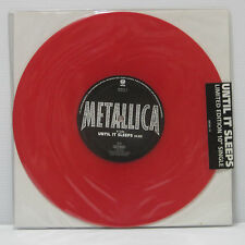 "METALLICA - UNTIL IT SLEEPS 10"" EP 1996 RED COLOR VINYL SEALED MOTORHEAD LP"