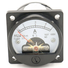 Ammeter SO-45 Class 2.5 Accuracy AC 0-5A Round Analog Panel Meter Black
