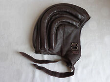 VTG RARE RETRO WINTER MOTORCYCLE, SCOOTER, MOTOR RIDER LEATHER HELMET SIZE: M