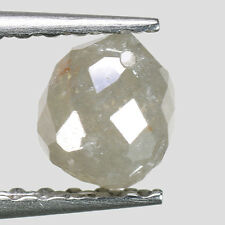 "0.70cts Gray Drilled Briolette Natural Loose Real Diamond ""SEE VIDEO"""