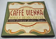 Coffee Wooden Picture Wall Hanging CAFFE' VIENNA WHOLE BEAN COFFEE ARABICA BEANS