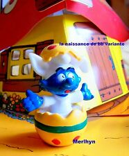 20492  Schtroumpf paques oeuf bebe  Smurf puffi pitufo puffo schtroumpfette rar.