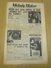 MELODY MAKER 1953 MARCH 28 JOHNNIE RAY VAL PARNELL LONDON PALLADIUM TED HEATH