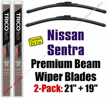 Wipers 2-Pack - Premium Beam Blades - fit 1995-1999 Nissan Sentra - 19210/19190