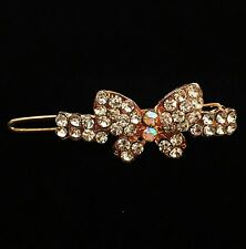 USA SELLER Hair Clip Hairpin Rhinestone Crystal Fashion Vintage Butterfly Gold 2