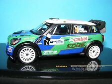 Mini Countryman JCW Green/ Blue /White 5 door Rally a 1:43RD Scale IXO Model