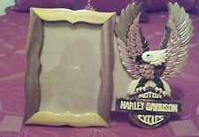 Harley-Davidson Inarsia Wood Picture Frame. Holds 4X6 Photo.