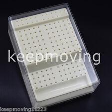 168 Holes Dental Bur Block Holder Autoclave Sterilizer Case Disinfection Box