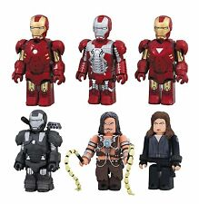 Iron Man 2 MK 4 5 6 War Machine Black Widow Whiplash Kubrick figure set Medicom