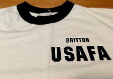 VTG. USAFA Britton B1445 PFU Physical Fitness Training Uniform Ringer T Shirt.