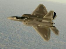 MILITARY AIR PLANE FIGHTER JET F22A RAPTOR TAN FLY POSTER ART PRINT BB1057A