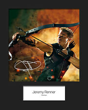 JEREMY RENNER (HAWKEYE) #2 Signed Photo Print 10x8 Mounted Photo Print