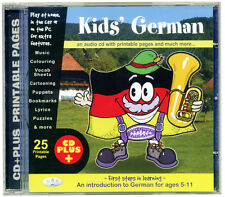 KIDS' GERMAN (CD, audio & rom) First steps in learning  for age 5+ NEW & WRAPPED