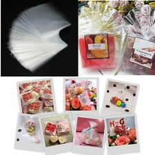100pcs Xmas Party Chocolate Lollipop Cookies Biscuit Candy Clear Cellophane Bags