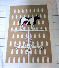 MARUSHKA USA 1970 SILK SCREEN ART CANVAS PRINT UNFRAMED COW MILK WEATHERVANE
